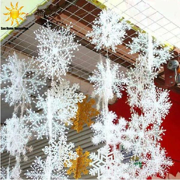 Set of 30 Pcs white snowflakes Christmas ornaments.add magical winter effect to…