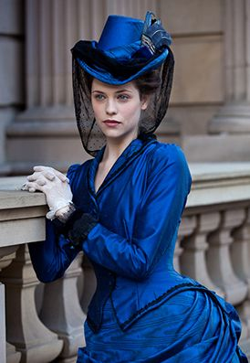 It's not a wedding dress but it put me in the mind of a Victorian style! I love it!