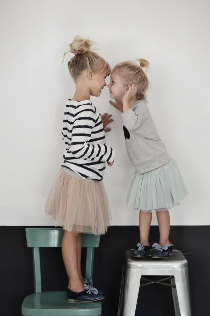 { sisters in tulle skirts }