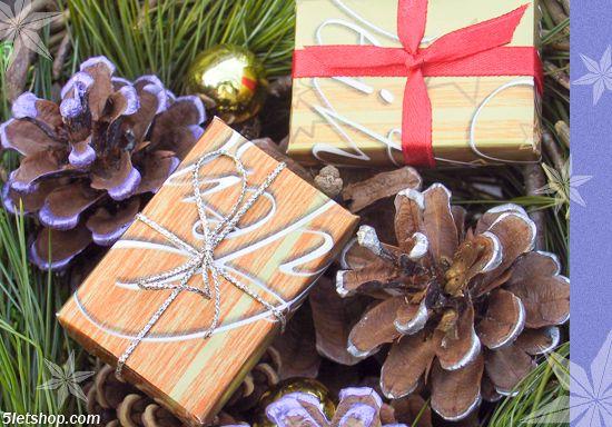 DIY Christmas gift box ornament (Karácsonyi ajándékdoboz dísz készítése)