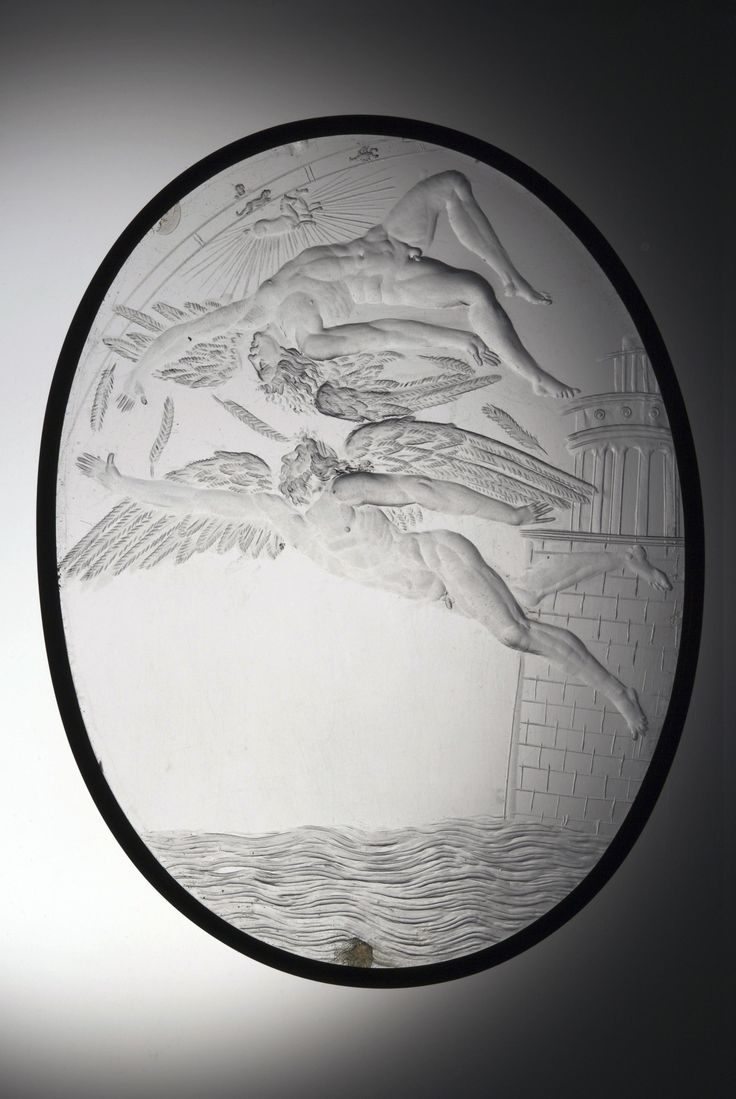 The Fall of Icarus | Giovanni Castelbolognese, rock crystal, copper, Italy early 1540s