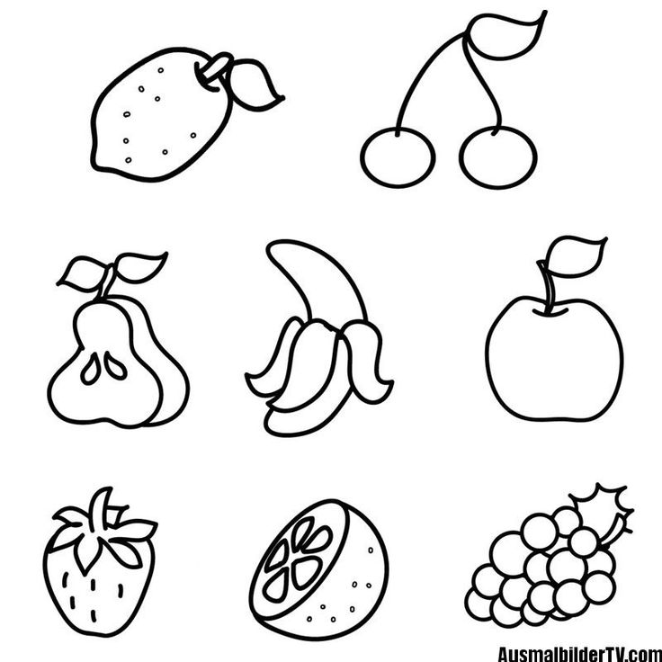 malvorlage obst und gemüse  free coloring pages coloring