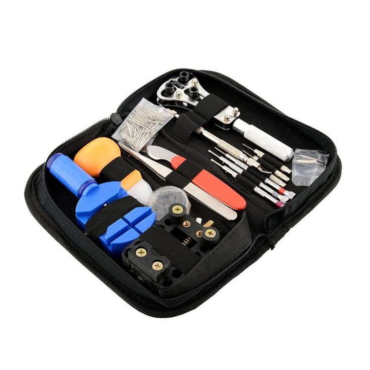 Portable 144Pcs Watchmaker Watch Repair Tool DIY Clock Repairing Kit Wall Clock Mechanism Movement Opener Spring Pin Convenience