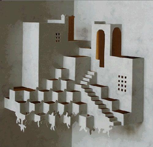 Escher's Cycle-origami