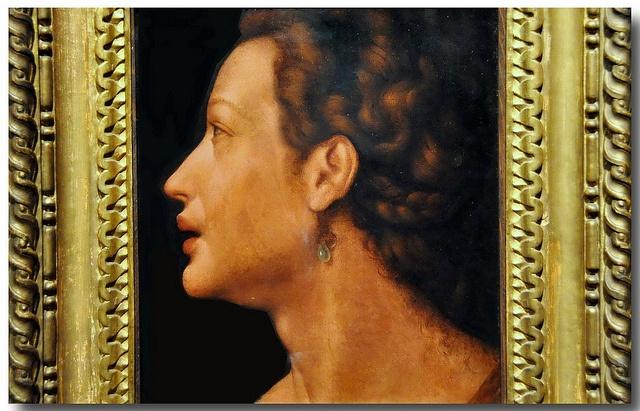 Mirabello Cavalori (1535-1572) - Head of a Young Woman.  Szépmüvészeti Múzeum (Museum of Fine Arts), BudapestHa.ns Ollermann