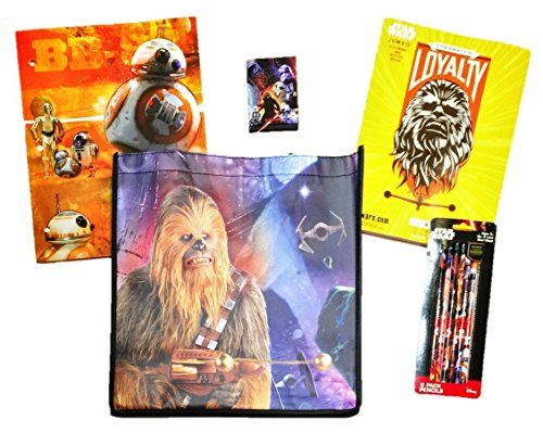5 item LIMITED Disney Star Wars Bundle Exclusive [Chewbacca Loyalty Coloring Book Droid Pocket Fold @ niftywarehouse.com