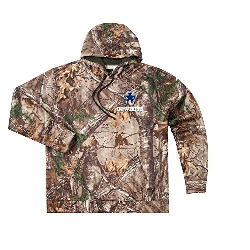 NFL Dallas Cowboys Boys Champion Realtree Xtra Polyester Tech Fleece Full Zip Hoodie Large Camo