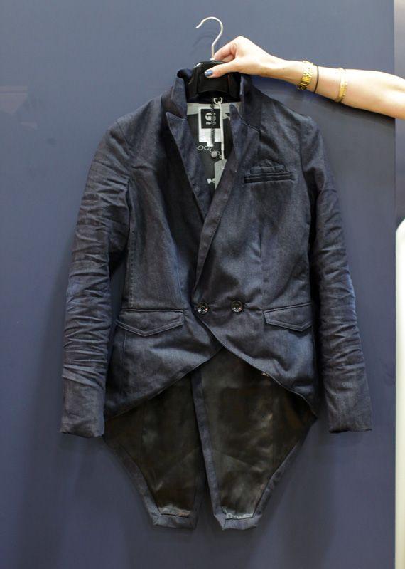 G-Star Raw Tuxedo Denim Blazer. Women's Spring 2012 Collection.