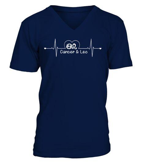 CANCER AND LEO - ZODIAC HEARTBEAT couple love T-shirt