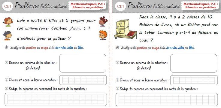 Cap Maths CE1 - Les problèmes hebdomadaires