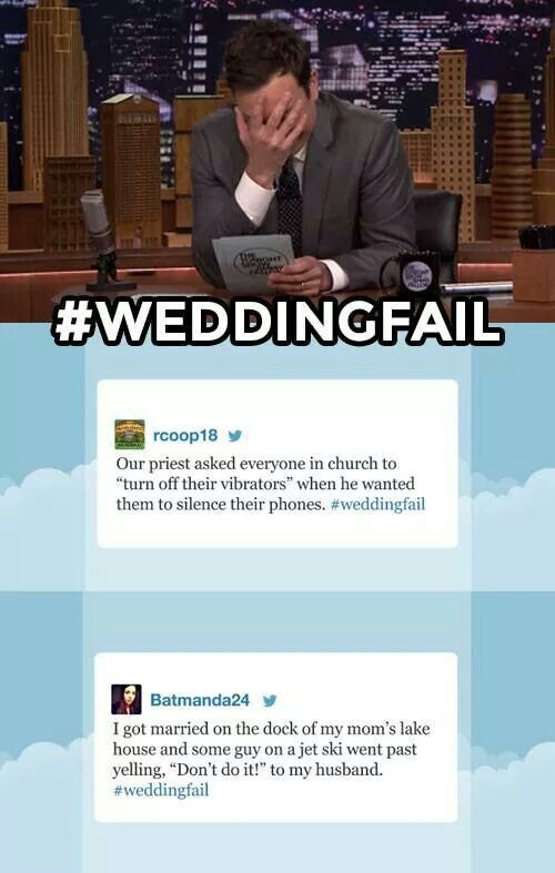 #WeddingFail