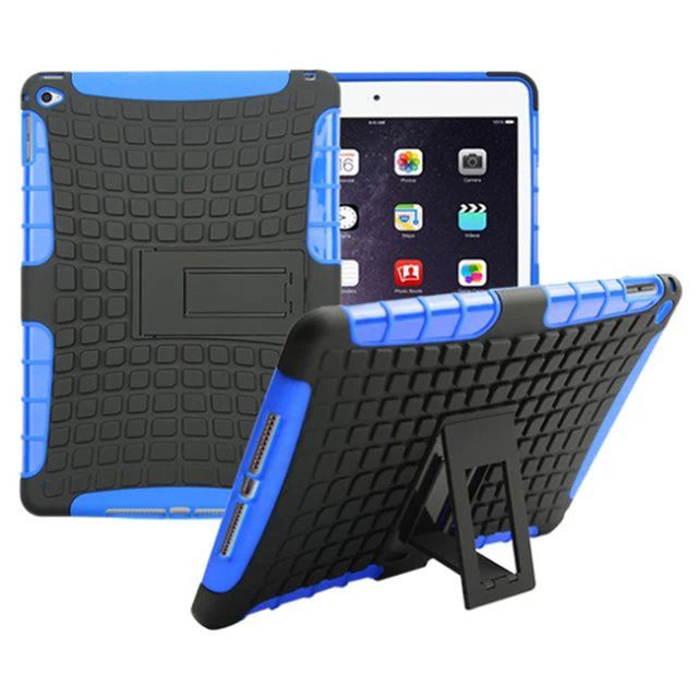 Heavy Duty TPU&PC Dual Armor case For iPad air 2 case with stand For iPad 6 Protective Skin tablet accessories #Affiliate