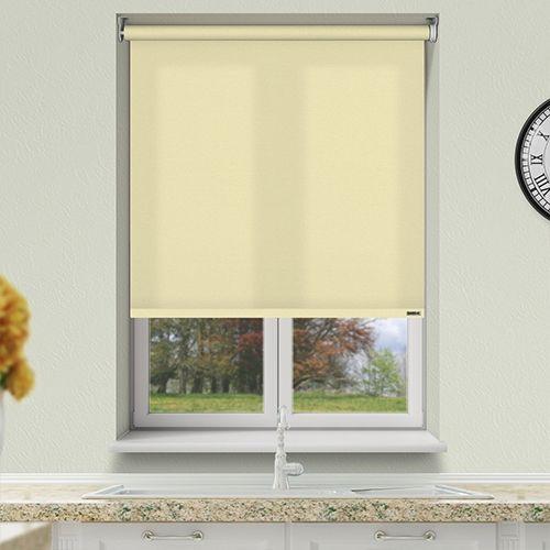 Controliss Liso Cornsilk battery powered roller blind.#Home #HomeDecor #InteriorDesign #Decor #RollerBlinds #CreateYourHome #BudgetBlinds #WindowShades #Window #Design #Blind #WindowCoverings #Windows #Blinds #MadeinUK