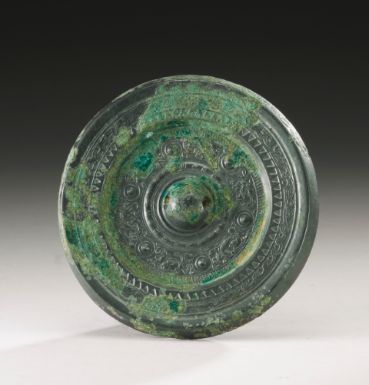 A BRONZE 'ANIMALS' MIRROR HAN DYNASTY - Sotheby's
