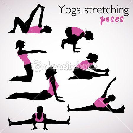7 stretching yoga poses  yoga  pinterest