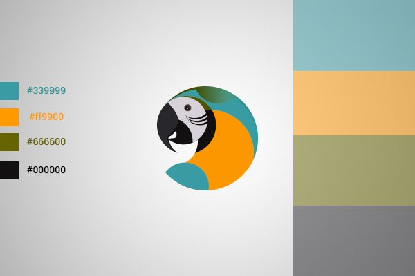 Designed logo and complete branding using Macaw ( parrot ) as a symbol.   Abstract and modern