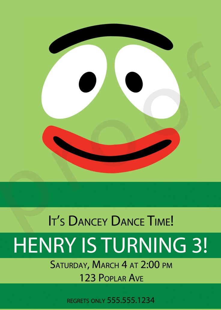 25 best yo gabba gabba birthday ideas images on pinterest | yo, Birthday invitations