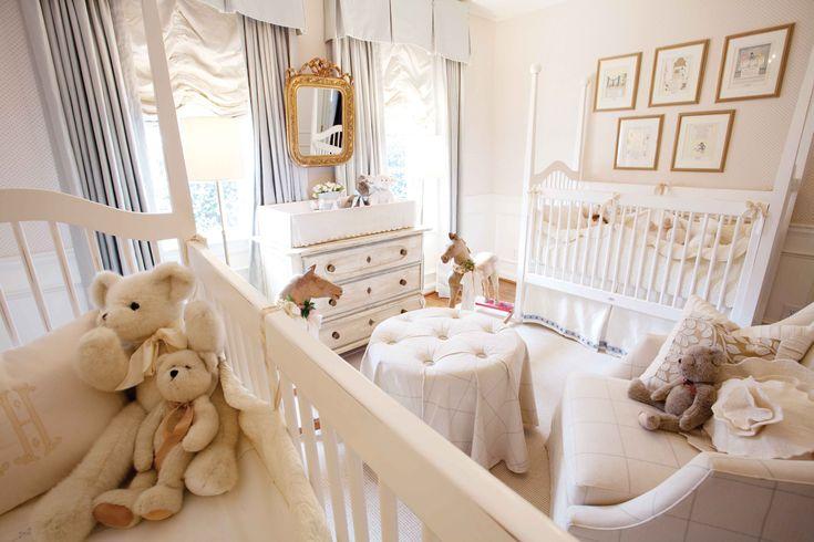 Twin nursery. Elegant.