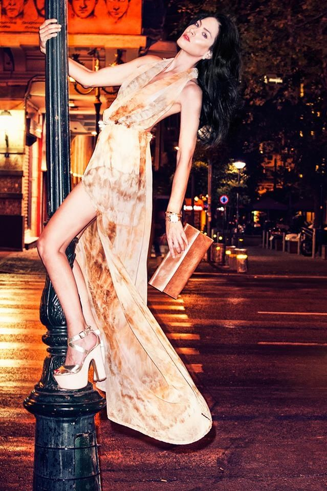 Dress & Clutch Bag by Vassilis Thom  Photographer: Konstantinos Pafilas  MUA / Hairstylist: Tommy Diamantopoulos Blogger / Model: Konstantina Tzagaraki from Serial Klother