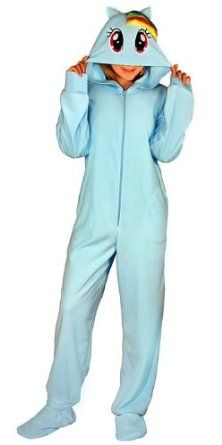 Who says fun pajamas are for kids? These pajamas for adults are designed to look like My Little Pony's Rainbow Dash.