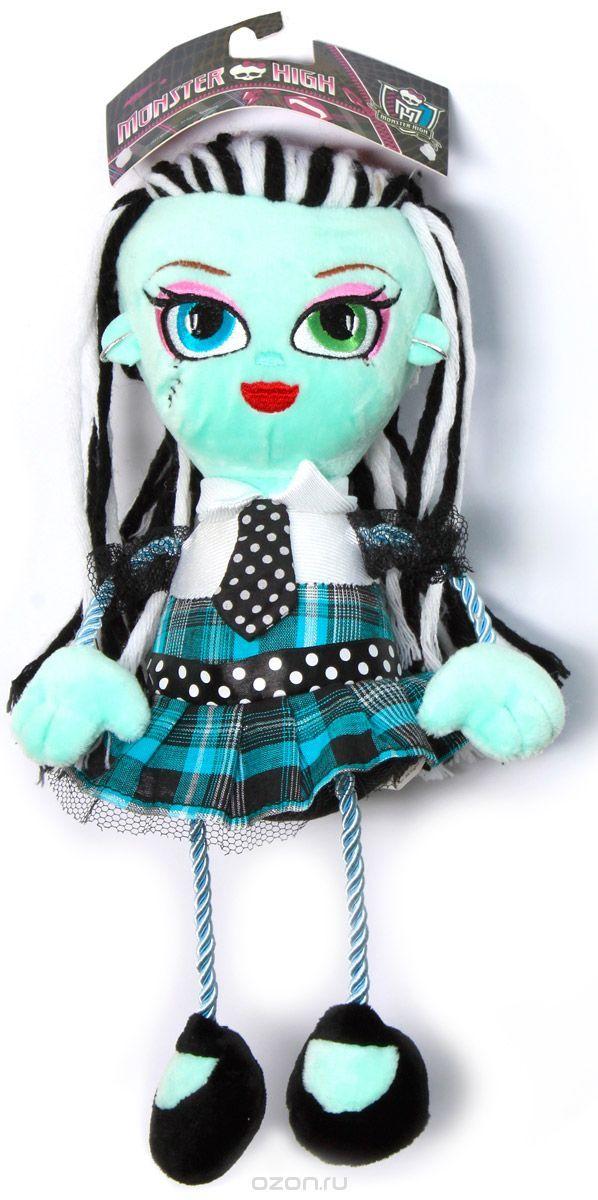 57414Плюшевая кукла Monster High Фрэнки Штейн будет замечательным подарком для маленькой поклонницы Monster High. Очаровательная кукла с вышитым личиком и длинными волосами из пряжи одета в платье с отделкой сеточкой и серебряной нитью, с атласным галстуком и поясом. Ножки и ручки куклы выполнены из декоративного шнура. Размер в полный рост - 35 см.