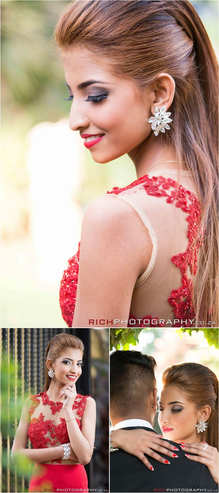 Some beautiful poses and matric farewell ideas for those planning their farewell and wanting to be inspired #matricfarewell #reddress #elegant  Photography by RICH Photography