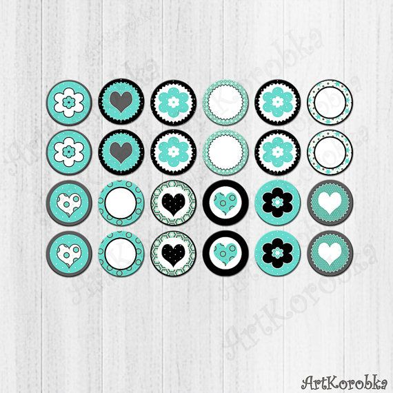 Shower Mint Cupcake toppers  Birthday Cupcake Topper by Artkorobka