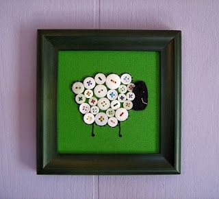 Button art: Crafts Ideas, Sheep Buttons, Buttons Sheep, Lamb Art Kids, Buttons Crafts, Buttons Art, Crafts Projects, Crafty Ideas, Kids Rooms
