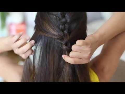 Как плести модную косичку - How to make a trendy braid - YouTube