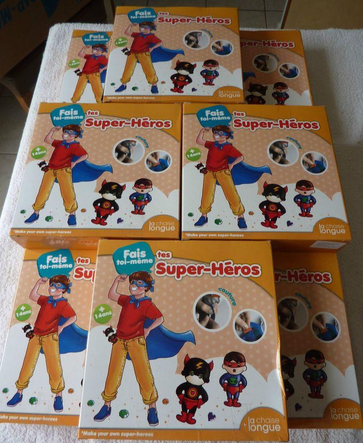 Lot de 10 boites jeux Fais toi-même tes super Héros La Chaise Longue neuf