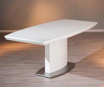 Table de salle à manger design coloris blanc brillant Peggy - Buffet/bahut - Soldes Salle à manger - PROMOS