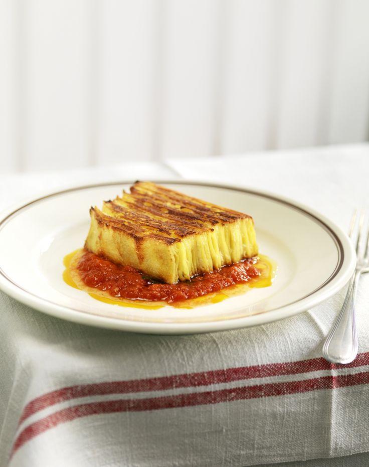 Die Vegi-Lasagne im Schichten-Look