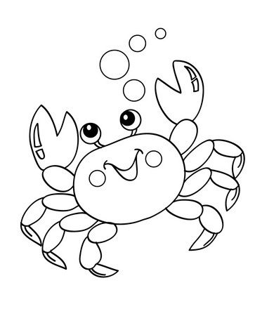 crab coloring pages here are our top 10 crab coloring pages printable since crabs - Blank Coloring Pages Children