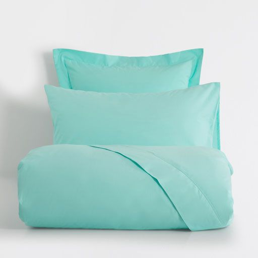 Image of the product Basic turquoise percale bed linen