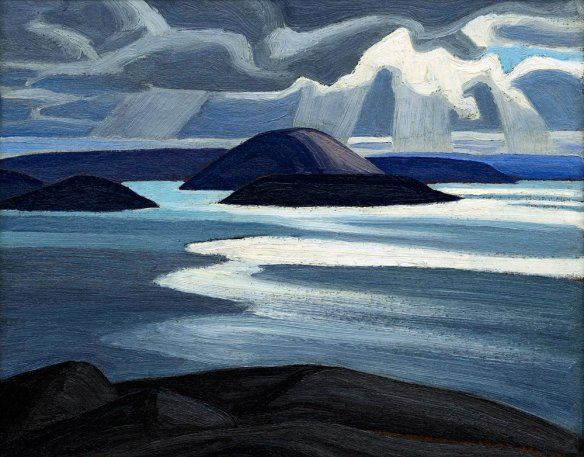 Lake Superior, Sketch XLVII by Lawren Harris, ca.1923. Oil on panel, 30 x 37.5 cm | © Family of Lawren S. Harris