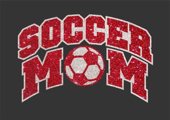 Women's Glitter Bling Soccer Mom shirt by RedheadedMonkeys on Etsy, $23.00