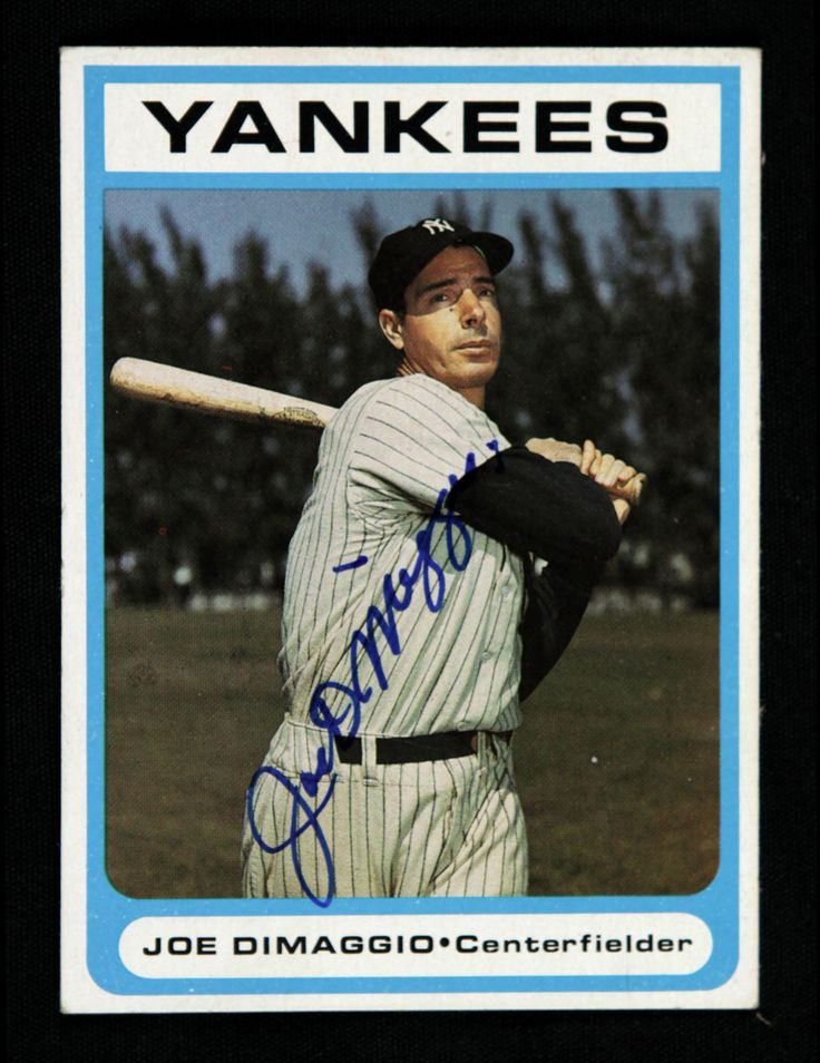 Click To Close Image Click And Drag To Move Use Arrow Keys For Next And Previous Joe Dimaggio New York Yankees Baseball Cards