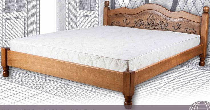 ліжко двоспальне дерев'яне Магнолія Преміум Орбіта з дерева 4ugla.com.ua