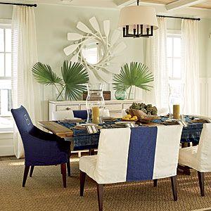 2011 Ultimate Beach House Room Tour | The Dining Room | CoastalLiving.comCoastalliving, Decor, Dining Rooms, Mirrors, Paddles, Beach Houses, Diningroom, Coastal Living, Beachhouse
