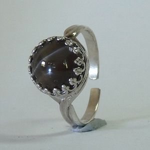 4.40 CTs. Natural Scapolite Cat's Eye in Solid 925 Sterling Silver Multisize Ring           RI243