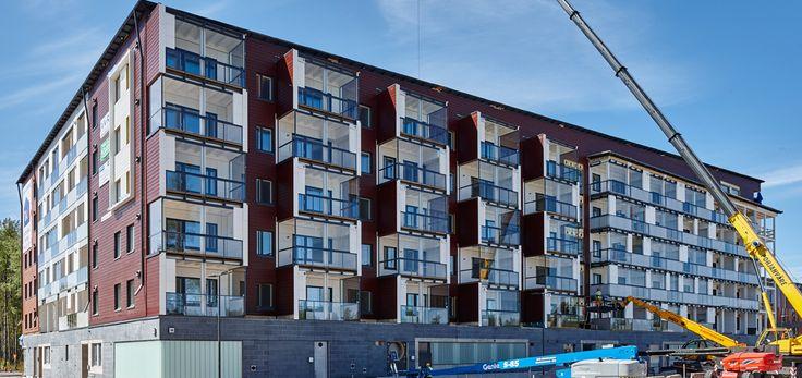 PuuMera Kivistö. Vuoden 2015 asuntomessualueelle Vantaan Kivistöön nousevasta PuuMera Kivistöstä tulee valmistuttuaan Euroopan suurin asuinkäyttöön tarkoitettu puukerrostalo. Materiaaliratkaisuiltaan ja ominaisuuksiltaan edistyksellinen rakennus näyttää suuntaa uudentyyppiselle kerrostalorakentamiselle ja kiinteistökehitykselle.