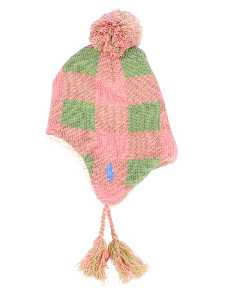 Simplicity Children's Watermelon Pompom Winter Knit Beanie Hat w/ Ear Flaps. Ultra-soft cotton blend. Adorable fuzzy pompom accent. 2 Colorful fringed tassels on each ear flap. Fleece lining is incredibly warm & comfortable. Perfect beanie to bundle up your little one in during the harsh cold seasons; Great gift idea for friends & family.