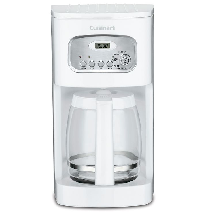 Cafetiere 12t prog blanche