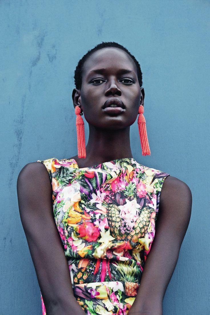 loveserenissima:  Ajak Deng for Neiman Marcus by Julia Noni