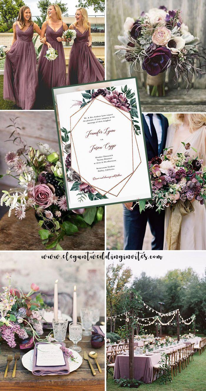 Deep Mauve And Greenery Fall Wedding Colors June Wedding Colors Fall Wedding Colors Fall Wedding Invitations