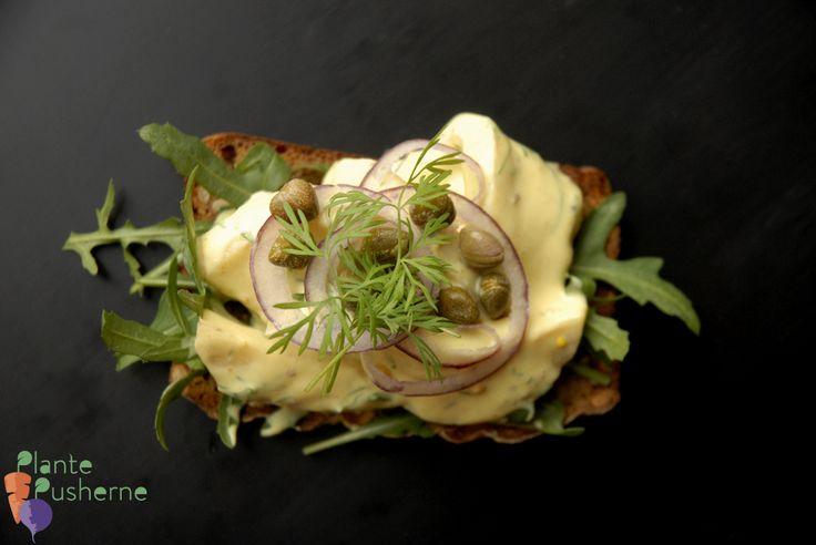 Lad silden svømme - auberginesild i sød, stærk sennepsdressing (oliefri)