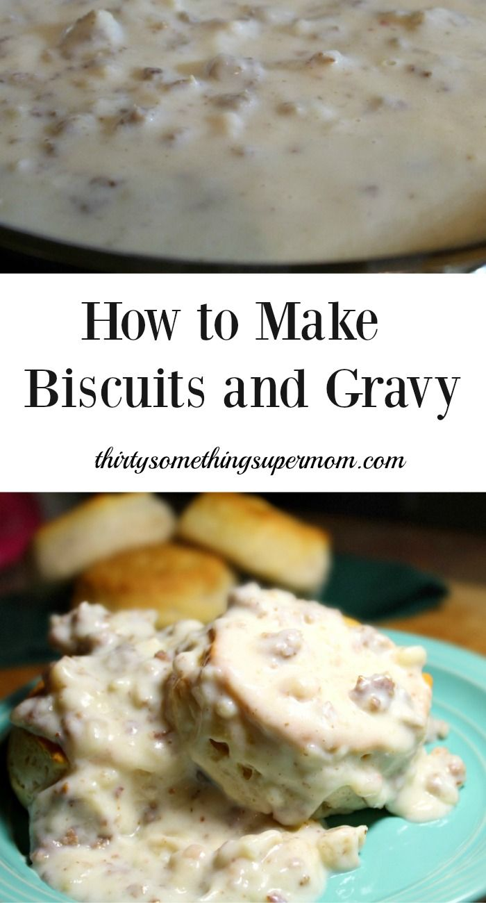 How to Make Biscuits and Gravy - So easy and so good! ThirtySomethingSuperMom #ad
