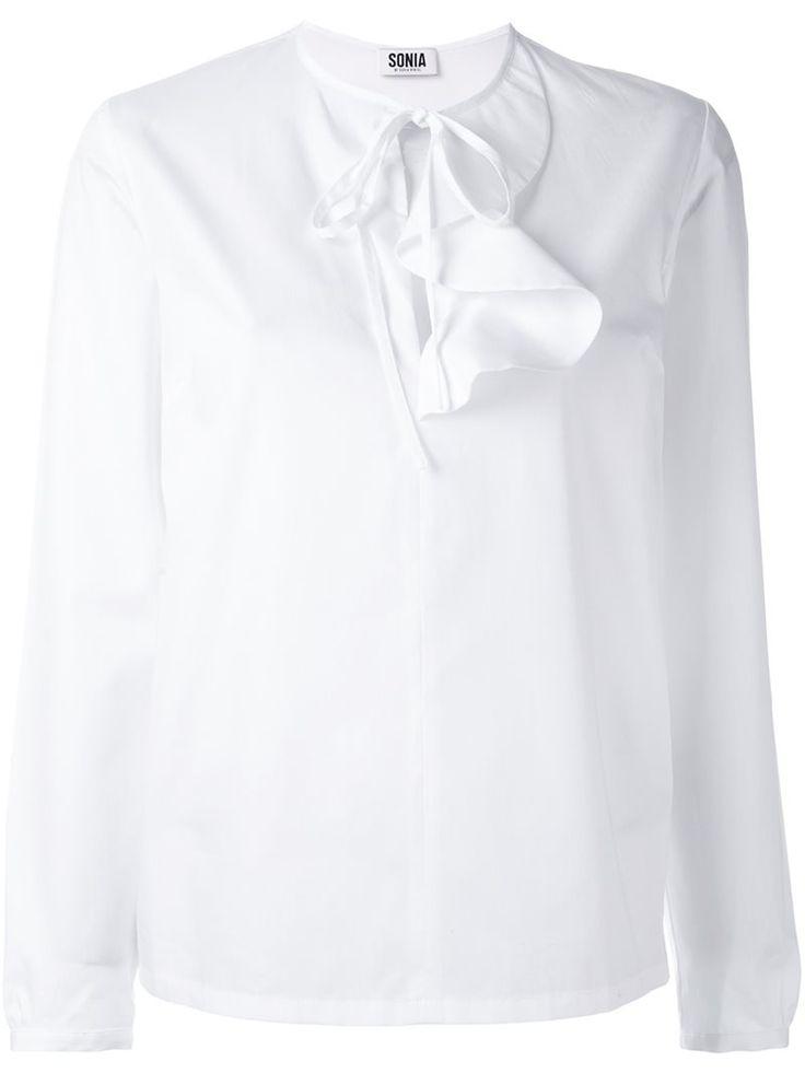 ruffle detail blouse