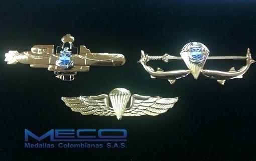 Lancha Submarinista, Comando Anfibio y Ala paracaidista de la Armada Nacional de Colombia.