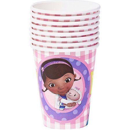 Doc McStuffins 9 oz. Paper Party Cups, 8 Count, Party Supplies, Multicolor